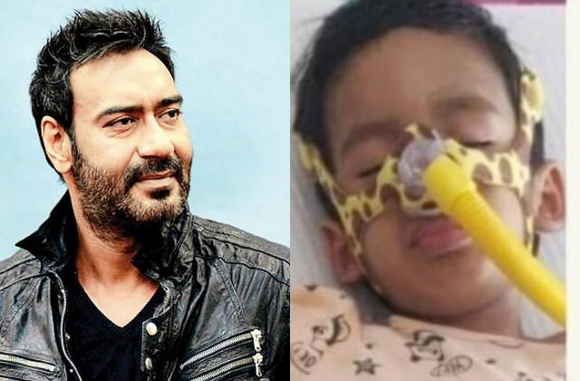 ajay devgan come forward for help to child struggling with a rare disease