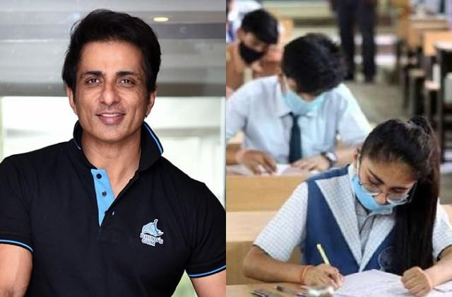 sonu sood share post to cancel offline board exam