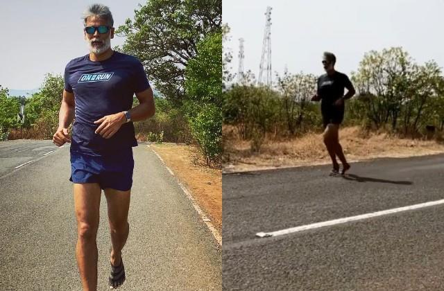 milind soman runs 5 km long race after beating corona