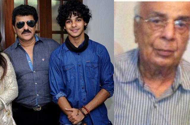 ishaan khatter grandfather krishna khatter passes away