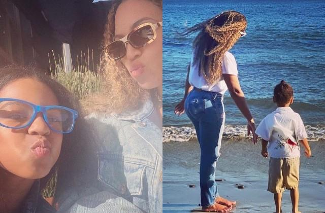 beyonce shares photos enjoying vacation with children from malibu beach