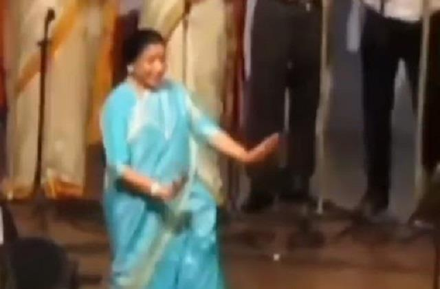 asha bhosle dances video viral