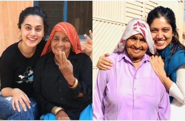 taapsee and bhumi express mourn on the death of chandro tomar aka shooter dadi