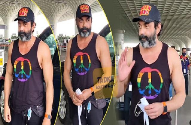 bobby deol spotted at airport holding mask in hand users trolled