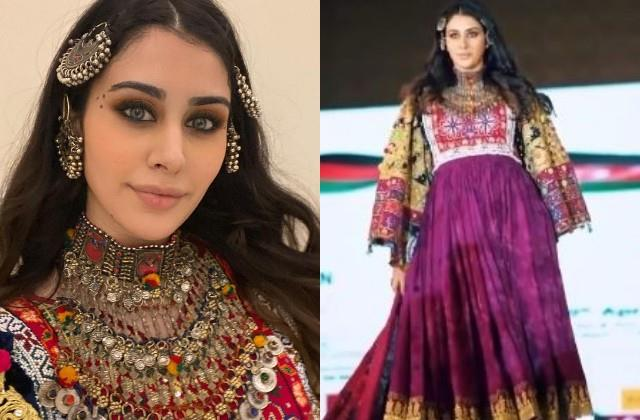 warina hussain became the showstopper for the afghanistan embassy event