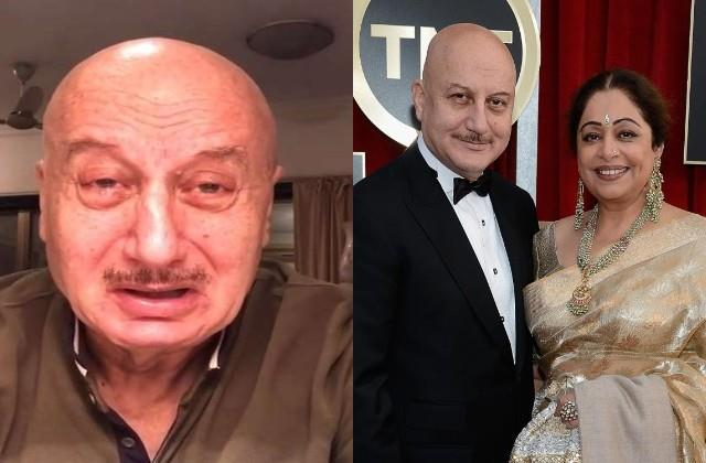 anupam kher reaction on wife kirron kher fake death news who fight with cancer