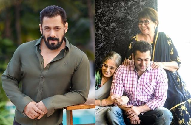 salman khan share mom salma khan and helen photos of on mother day