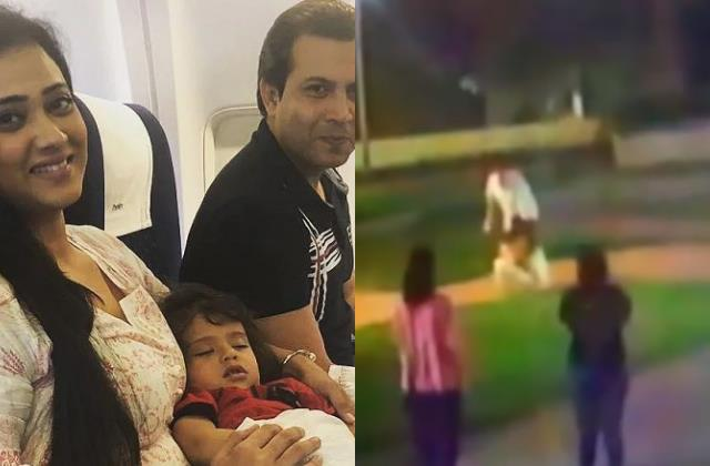shweta tiwari share cctv footage of abhinav kohli hurting son reyansh kohli