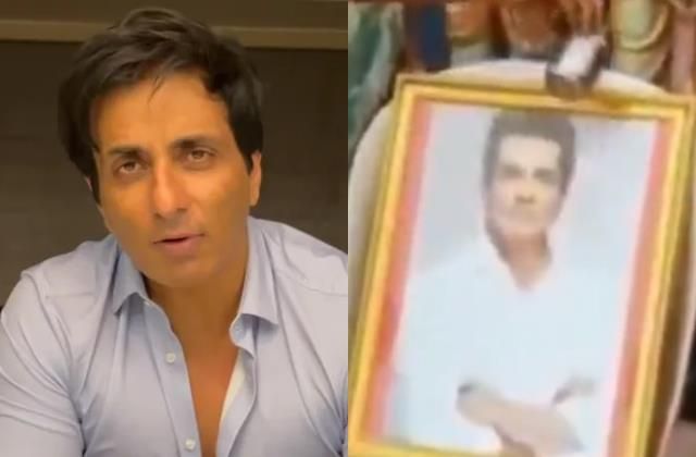 people pour mlik on sonu sood picture actor said save milk for someone needy