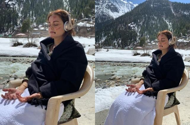 pregnant dia mirza has bruises on her face in this picture