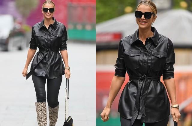 लंदन में स्पॉट हुई Vogue Williams, ब्लैक जैकेट और पैंट में दिखा कूल अंदाज