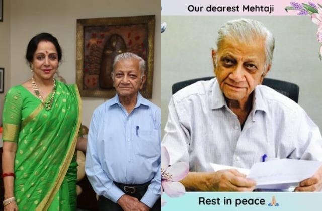 hema malini secretary mehta ji passes away due to covid 19