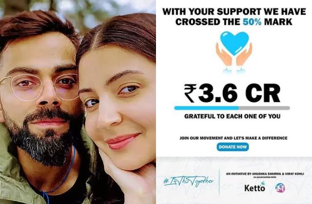 anushka sharma virat kohli campaign ketto raised 3 6 crores in 24 hours