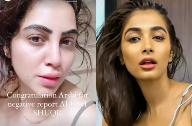 pooja hegde and arshi khan tested corona negative