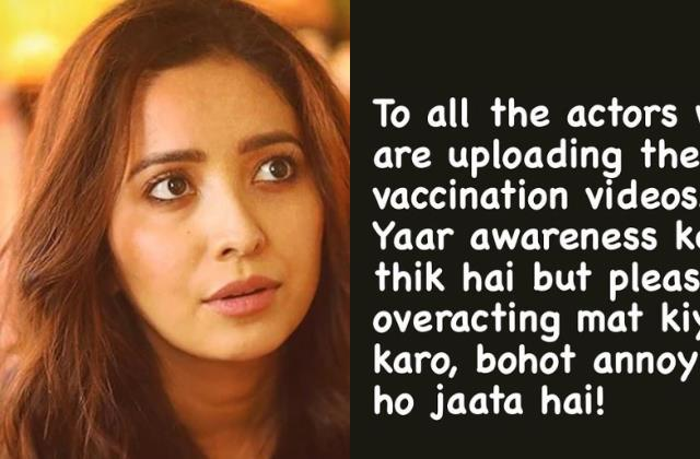 asha negi angry on celebrities who posting of vaccination pictures