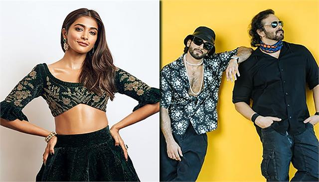pooja hegde on shooting for cirkus with rohit shetty and ranveer