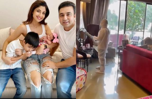 shilpa shetty gets her home sanitised after her family s covid 19 recovery