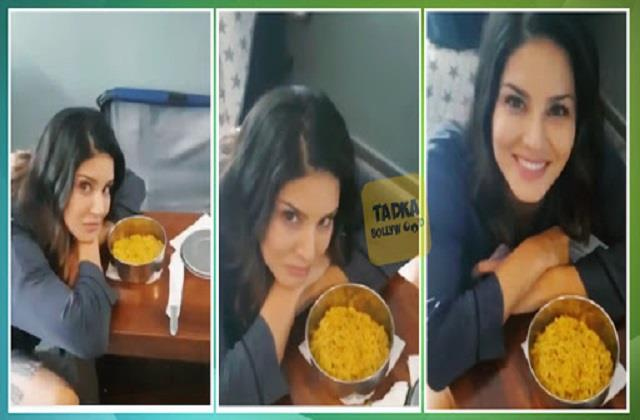 sunny leone only smells maggi she is on dieting video viral
