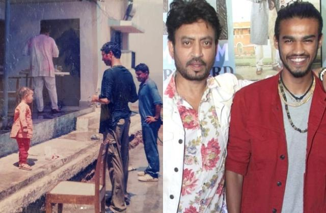 babil khan share holi celebration useen pictures with late father irrfan khan