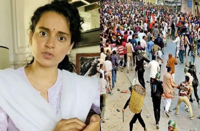 kangana furious over bengal violence