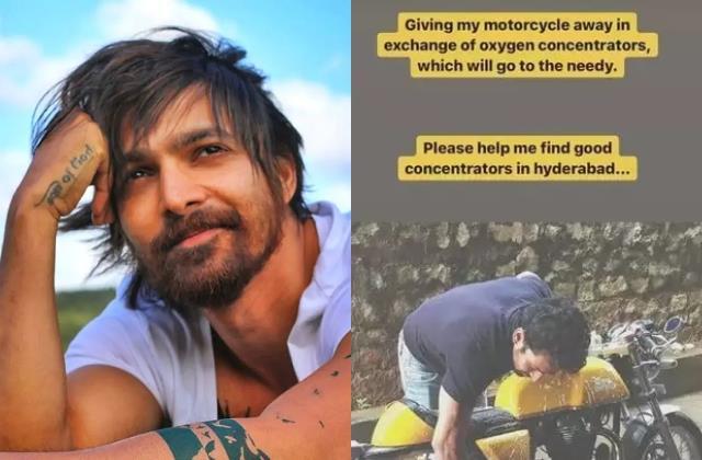 harshvardhan rane selling luxury bike raise funds for oxygen concentrators