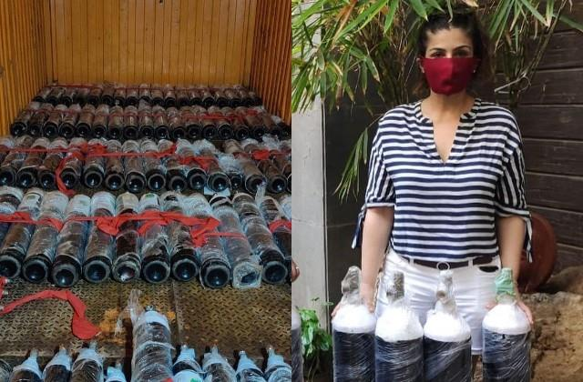 raveena tandon post about the help of oxygen cylinders