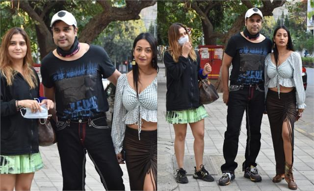krushna abhishek spotted with wife kashmira and sister aarti singh