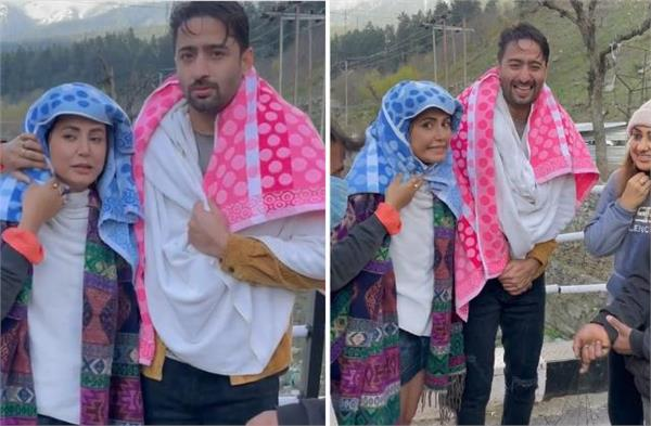 hina khan share video show how she and shaheer shot in cold