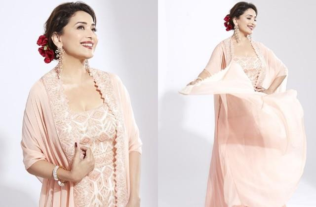 madhuri dixit shares her gorgeous photos in lehenga
