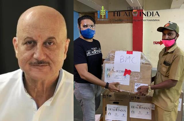 anupam kher donate oxygen concentrator to bmc
