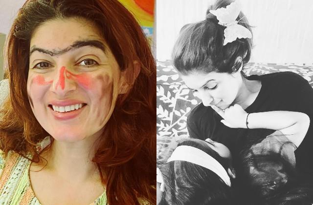 twinkle khanna share photo of her makeover by daughter nitara