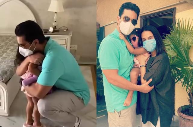 angad bedi recovered covid 19 actor reunites with daughter mehr after 16 days