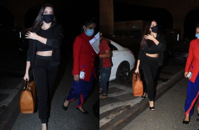 nora fatehi rock the casual chic look with rs 2 lakh bag at airport
