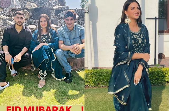 himanshi khurana celebrate eid with asim riaz and his family in kashmir