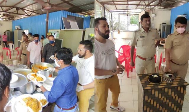 Pics:ईद पर पुलिस स्टेशन बिरयानी लेकर पहुंचे मीका सिंह, केक काट यूं सेलिब्रेट किया त्योहार