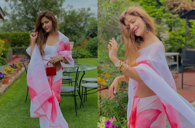 bigg boss 14 winner rubina dilaik looks stunning in saree