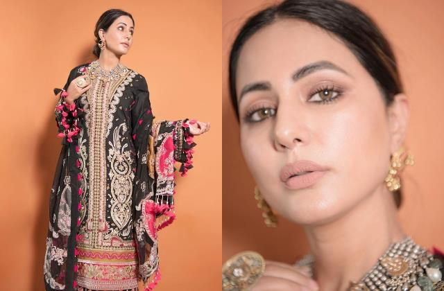 hina khan share first photoshoot pictures after her daddy demise