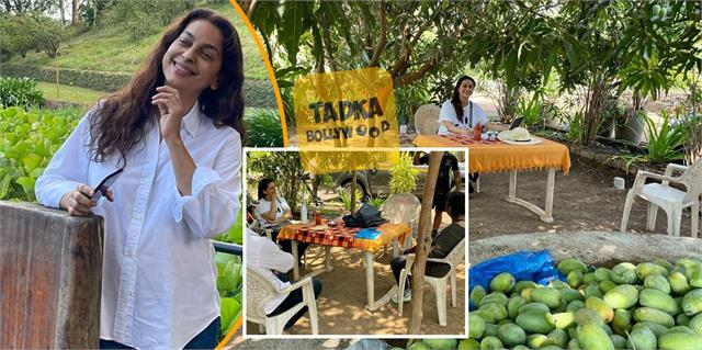 juhi chawla spending time in the farmhouse away from films