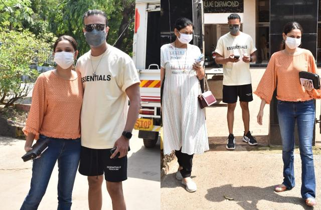 ankita lokhande spotted with boyfriend vicky jain and her mom