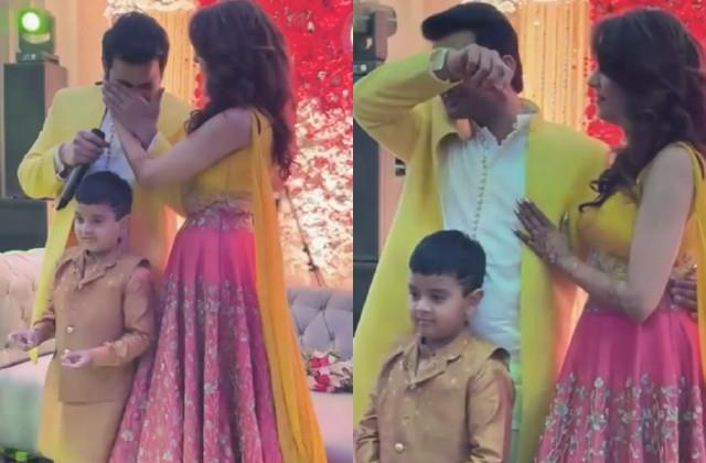 sanket bhosale gets emotional during ring ceremony with sugandha mishra