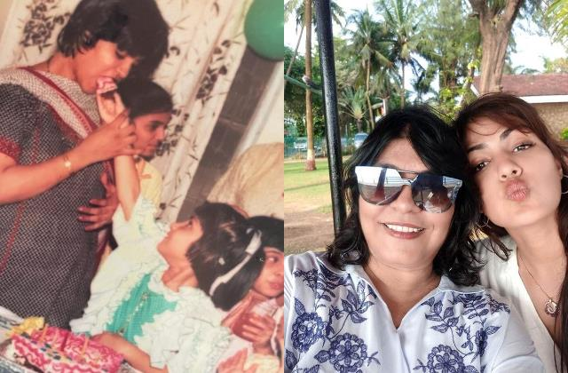 rhea chakraborty share throwback picture wish her maa with heartfelt note