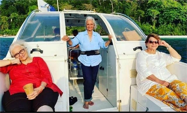 asha parekh got angry after viral their pictures of andaman vacation