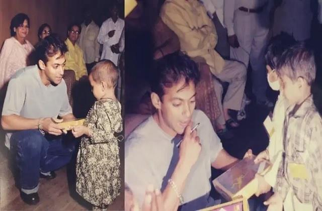 salman khan spread happiness with cancer patient children