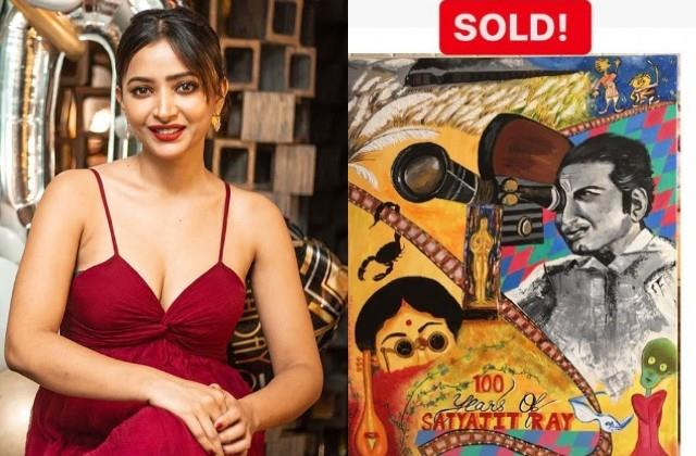 shweta basu sold satyajit ray painting and will help covid patients