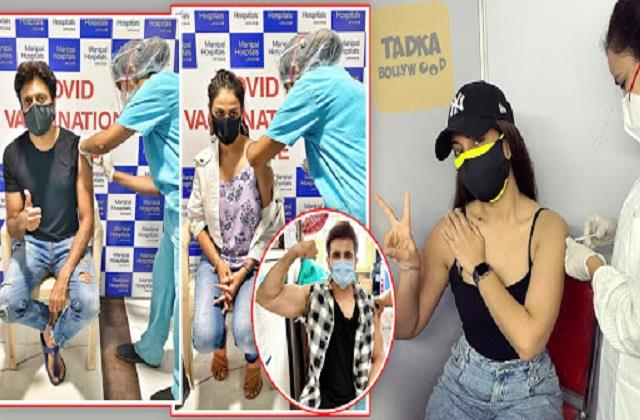 genelia dsouza riteish and sonakshi get first covid 19 vaccine dose