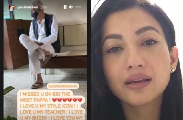 gauahar khan became emotional remembering the late father