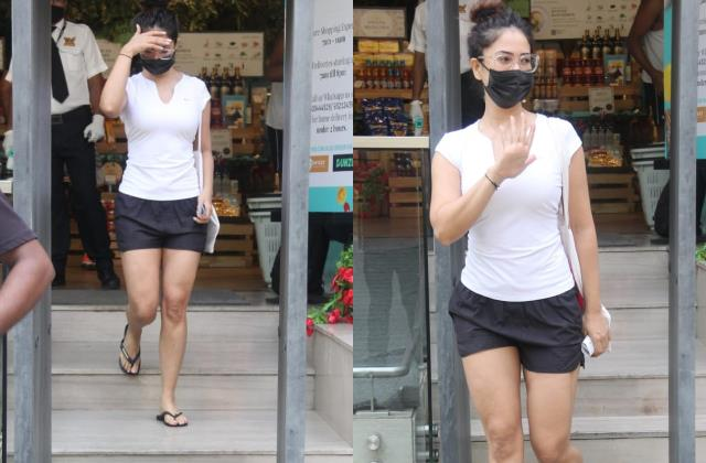 kim sharma spotted outside food hall in santa cruz