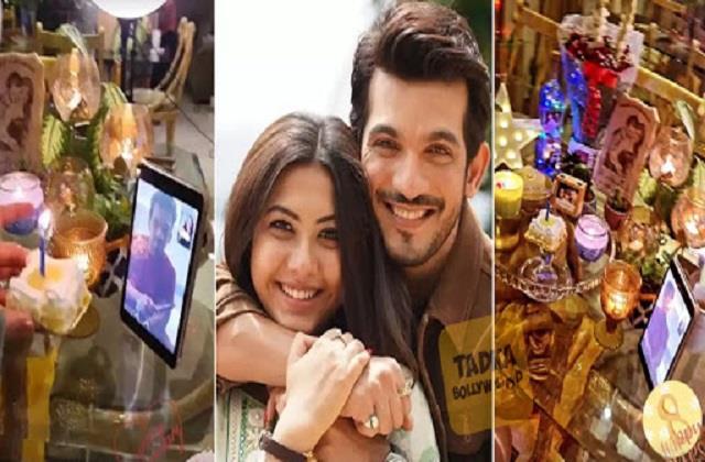 krk11 arjun celebrate 8th wedding anniversary with wife neha on video call