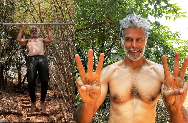 milind soman pullups with the help of just six fingers