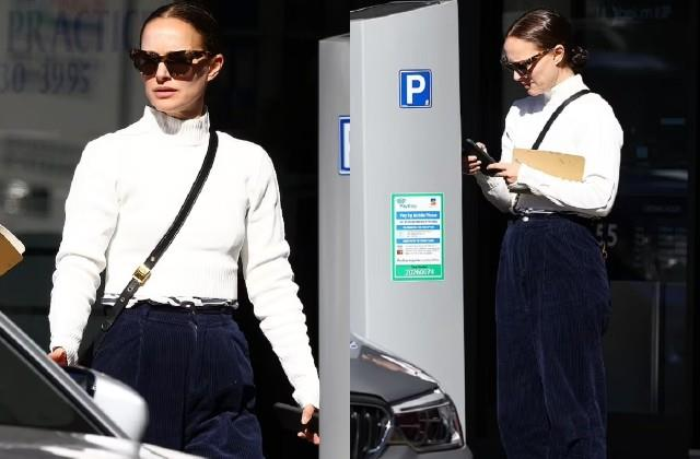 natalie portman spotted in bondi beach
